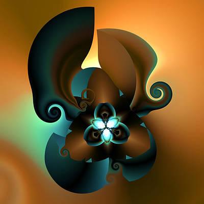 Algorithmic Digital Art - V Plate 252 by Claude McCoy