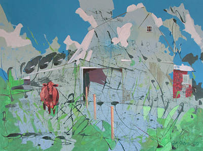 Vacant Vaca Barn Original by Jeff Seaberg
