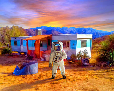 Astronauts Mixed Media - Vacation Rental by Snake Jagger