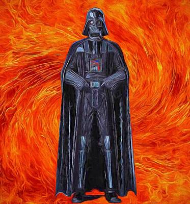 Dark Side Mixed Media - Vader by Dan Sproul