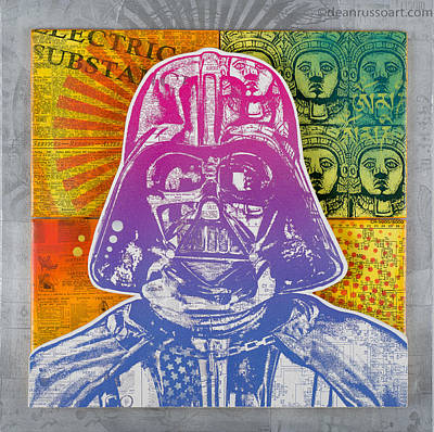Painting - Vader Electric Substance by Dean Russo
