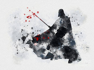 Splatter Mixed Media - Vader by Rebecca Jenkins