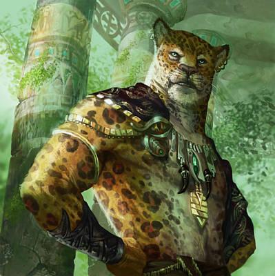 Cheetah Digital Art - Vah Shir Royal by Ryan Barger