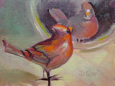 Painting - Vain Cardinal by Donna Shortt