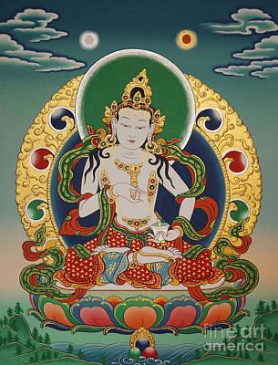 Buddhist Painting - Vajrasattva by Sergey Noskov