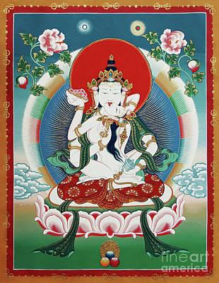 Bodhisattva Painting - Vajrasattva Yuganadha  by Sergey Noskov