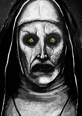 Paranormal Digital Art - Valak The Demon Nun by Taylan Soyturk