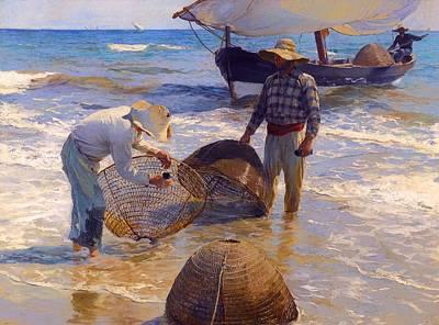 Net Painting - Valencian Fishermen by Mountain Dreams