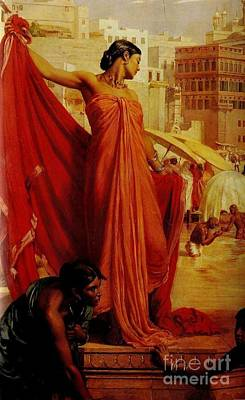 Woman In Red Dress Painting - Valentine Cameron Prinsep by MotionAge Designs