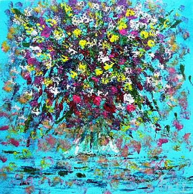 Abstractz Painting - Valentine Flow by Piety Dsilva