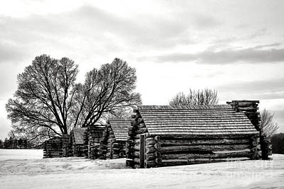 Valley Forge Barracks In Winter  Print by Olivier Le Queinec