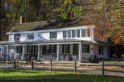 Phillies Photograph - Valley Green Inn - Autumn by Bill Cannon