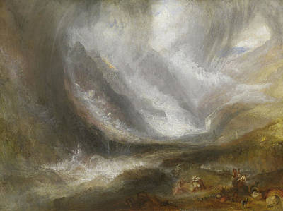 Storm Clouds Painting - Valley Of Aosta  Snowstorm, Avalanche, And Thunderstorm by Joseph Mallord William Turner