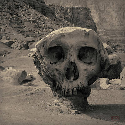 Montage Photograph - Valley Of The Skulls I Toned by David Gordon