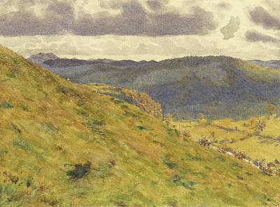 Valley Of The Teme, A Sunny November Morning Print by George Price Boyce