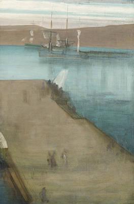 Tonalist Painting - Valparaiso Harbor  by James Abbott McNeill Whistler
