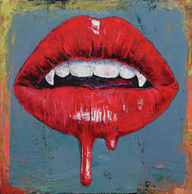 Surrealistic Painting - Vampire by Michael Creese