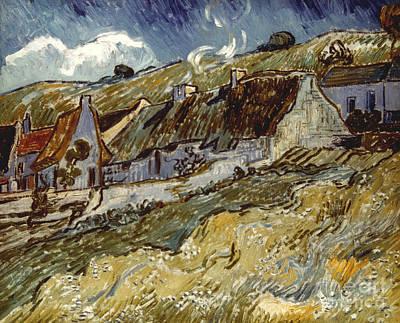 Van Gogh: Cottages, 1890 Print by Granger