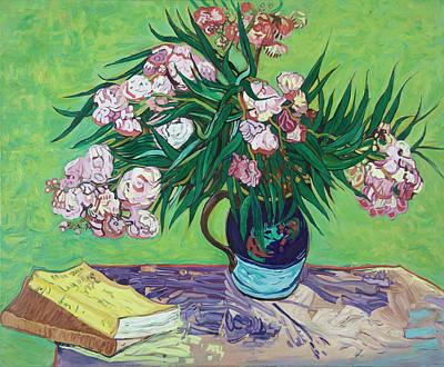 Purple Flowers Painting - Van Gogh Oleanders by Sandra Delaney