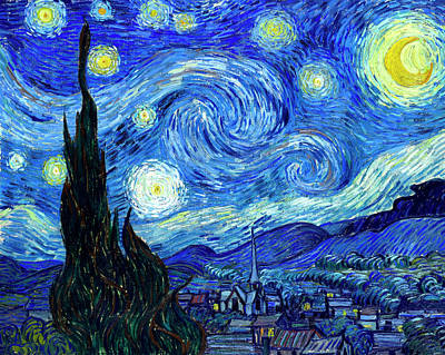 Starry Painting - Van Gogh Starry Night by Vincent Van Gogh