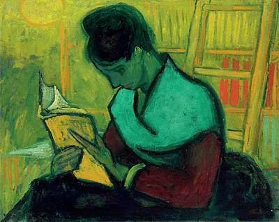 Education Painting - Van Gogh The Novel Reader by Vincent Van Gogh