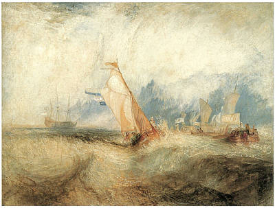 M.j Painting - Van Tromp Going About To Please His Masters by J M W Turner