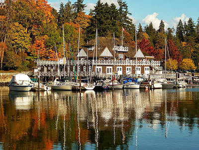 Vancouver Rowing Club In Autumn Print by Connie Handscomb