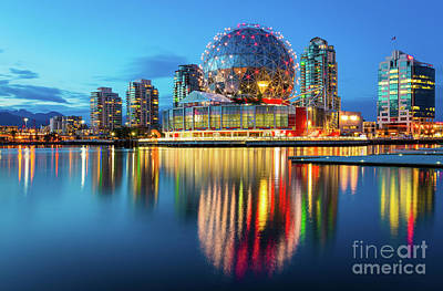 Vancouver Science World Print by Inge Johnsson