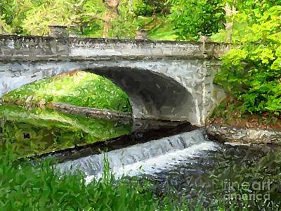 Hyde Park Digital Art - Vanderbilt Bridge by Donna Cavanaugh