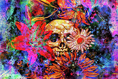 Sunflowers Digital Art - Vanitas by Jeff  Gettis