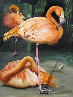 Greater Flamingo Painting - Vanity by Phyllis Beiser