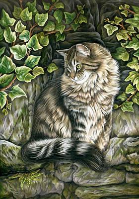 Tabby Cat Photograph - Vantage Point by Irina Garmashova-Cawton