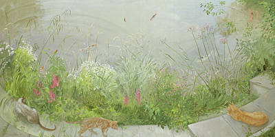 Garden Painting - Vantage Point by Timothy Easton