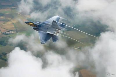 F-22 Digital Art - Vaping Raptor by Peter Chilelli