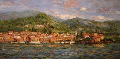 Lake Como Painting - Varenna Italy by R W Goetting