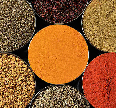 Various Kind Of Spices Print by PKG Photography