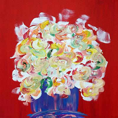 Painting - Vase Of Flowers by Mac Worthington