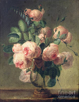 Pre-19th Painting - Vase Of Flowers by Pierre Joseph Redoute