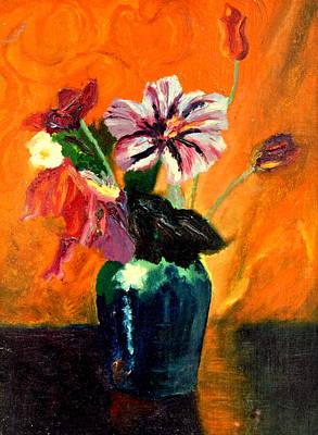Vase With Flowers Original by Henryk Gorecki