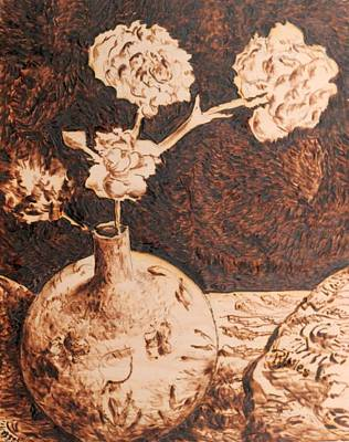 Vase With Flowers Original by Richard Jules
