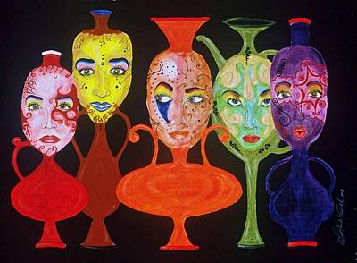 Vases With Faces Print by Shellton Tremble