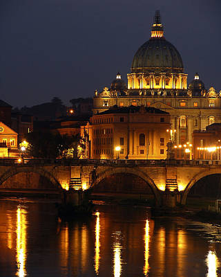 Vatican At Night Print by Don Wolf