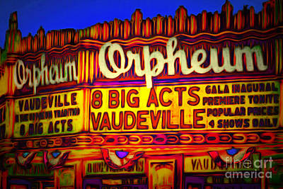 Vaudeville Night At The Orpheum Theater 20151222 Print by Wingsdomain Art and Photography