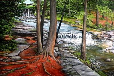 Vaughan Brook Hallowell Maine Original by Eileen Patten Oliver