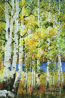 Vaughn Lake Aspen Original by Terri Robertson