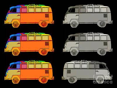 Pop Icon Photograph - Vdub Surfer Bus Series by Edward Fielding