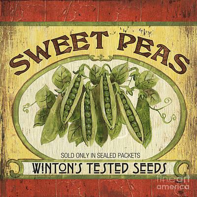 Peas Painting - Veggie Seed Pack 1 by Debbie DeWitt