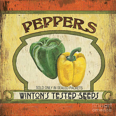 Peppers Painting - Veggie Seed Pack 2 by Debbie DeWitt
