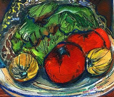Lettuce Mixed Media - Veggies Fresco by Mindy Newman