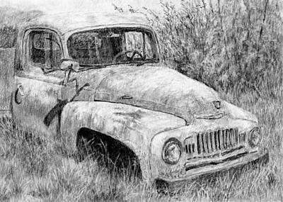 Classic Truck Drawing - Vehicle Study No 1 by David King